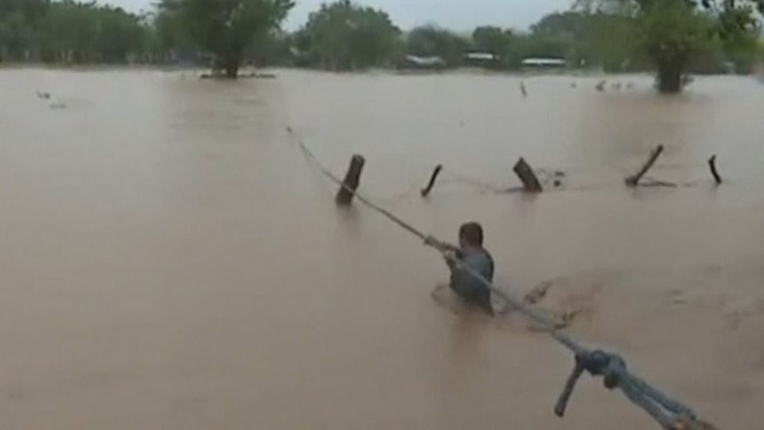 Tropical Storm Nate floods homes and roads in Rivas, Nicaragua