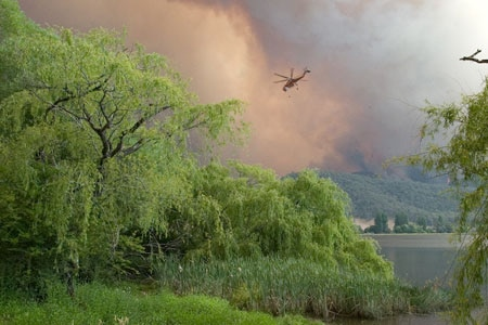 Victoria bushfires: Two big blazes have joined up (file photo).