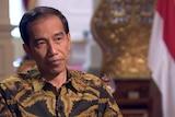 Joko Widodo talks to CNN