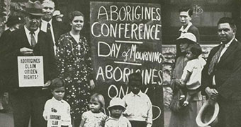Protesters on Australia Day 1938.