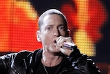 Eminem performs onstage at the 53rd annual Grammy Awards