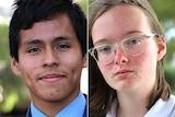 Headshots of two high school students.