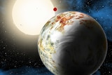 Arist's conception of planet Kepler 10c