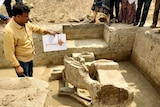 An image of an excavation site in India