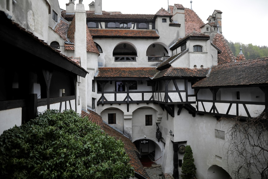 A view shows passageways and balconies insideBranCastle, in Brasov county, Romania, May 8, 2021.