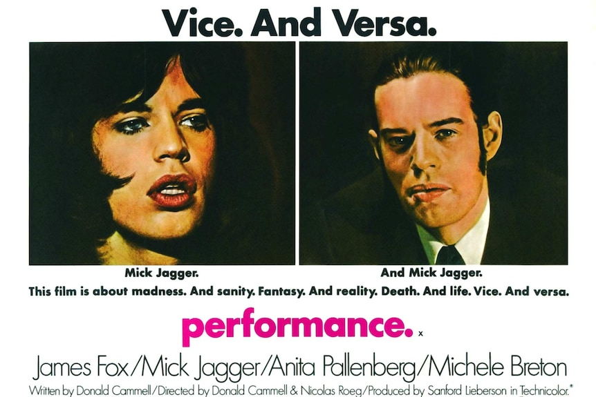 The original film poster for Performance.