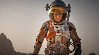 Matt Damon in a scene from the Martian