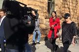 Samantha Farrer outside court.