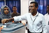 Maldivian presidential candidate Mohamed Nasheed