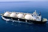 LNG tanker sails off WA coast