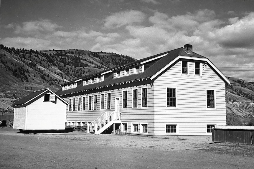 A new classroom building at theKamloopsIndianResidentialSchool in 1950