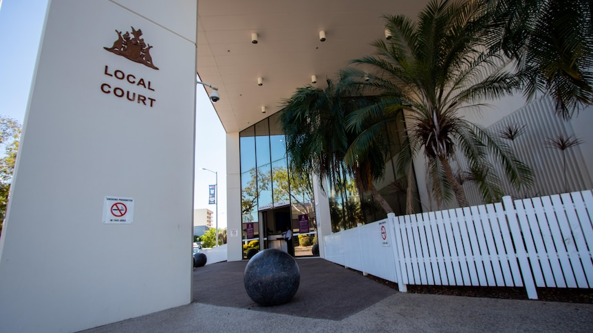 The exterior of the local court in Darwin