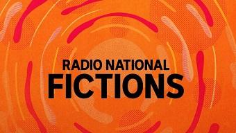 The orange logo for the Radio National Fictions program.