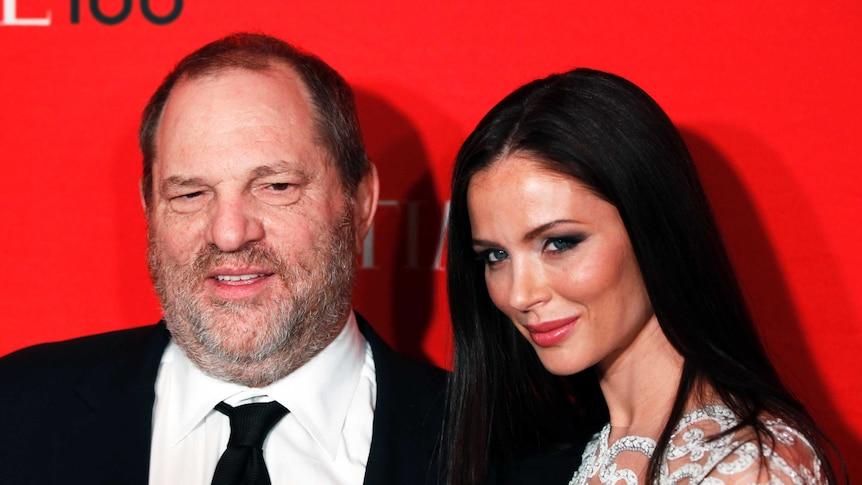 Harvey Weinstein and Georgina Chapman on the red carpet