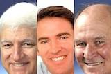 LtoR Independent MPs, Bob Katter, Rob Oakeshott and Tony Windsor