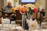 Dining table at nursing home