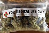 A one-ounce bag of medicinal marijuana in Berkeley, California