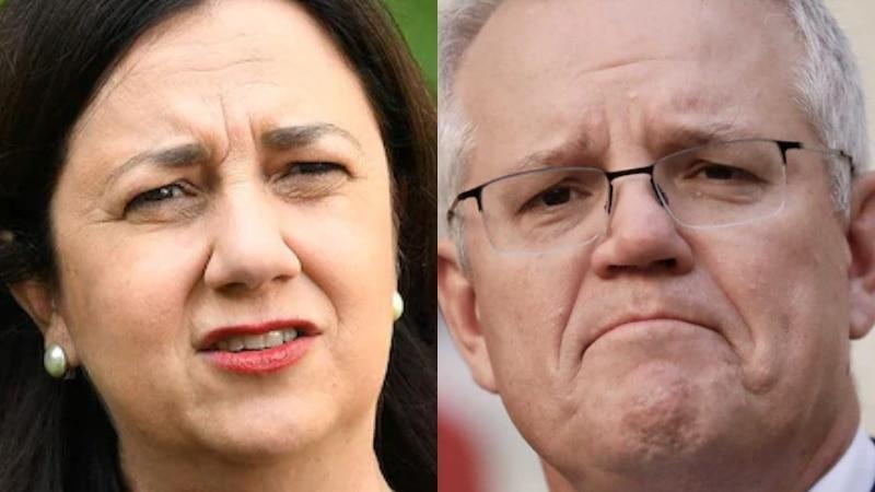 Composite image of Queensland Premier Annastacia Palaszczuk and Prime Minister Scott Morrison