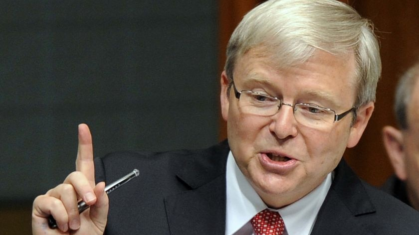 Prime Minister Kevin Rudd says his Government intends to serve a full term.