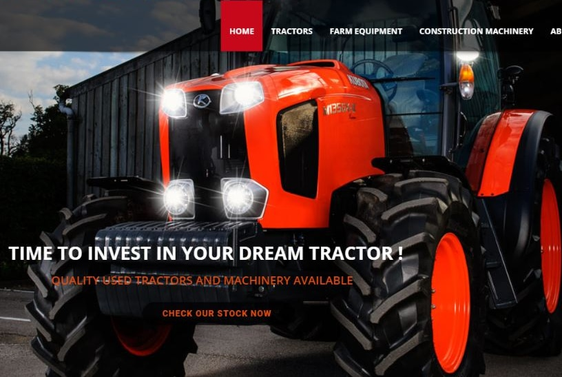 A fake tractor and machinery website that has scammed Australian consumers.
