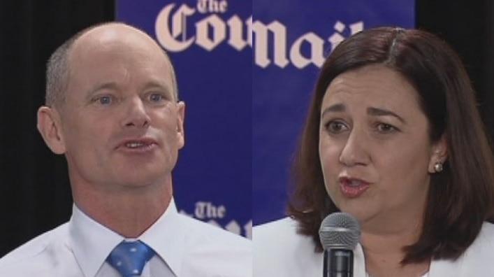 Queensland Premier Campbell Newman and Opposition Leader Annastacia Palaszczuk