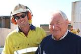 David Reed and driller Matthew Hartland in Kalgoorlie.
