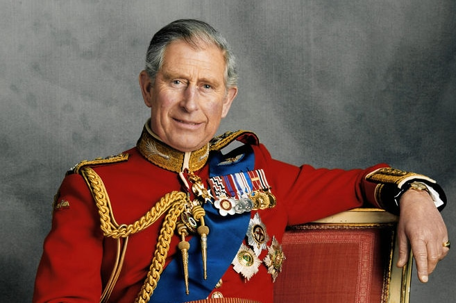 Prince Charles poses for a portrait