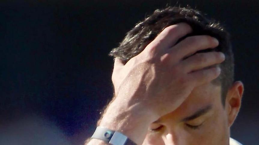 Kevin Pietersen wears a powerband