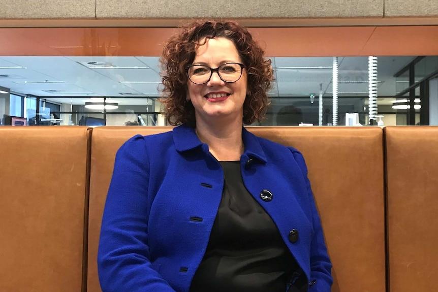 Eva Scheerlinck from Australian Institute for Superannuation Trustees. Interviewed by 7.30, April 2019