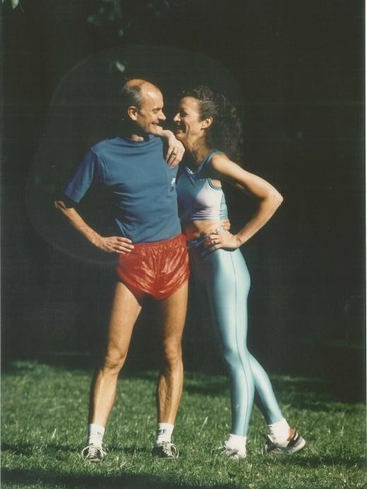 Kathrine Switzer with husband Roger Robinson