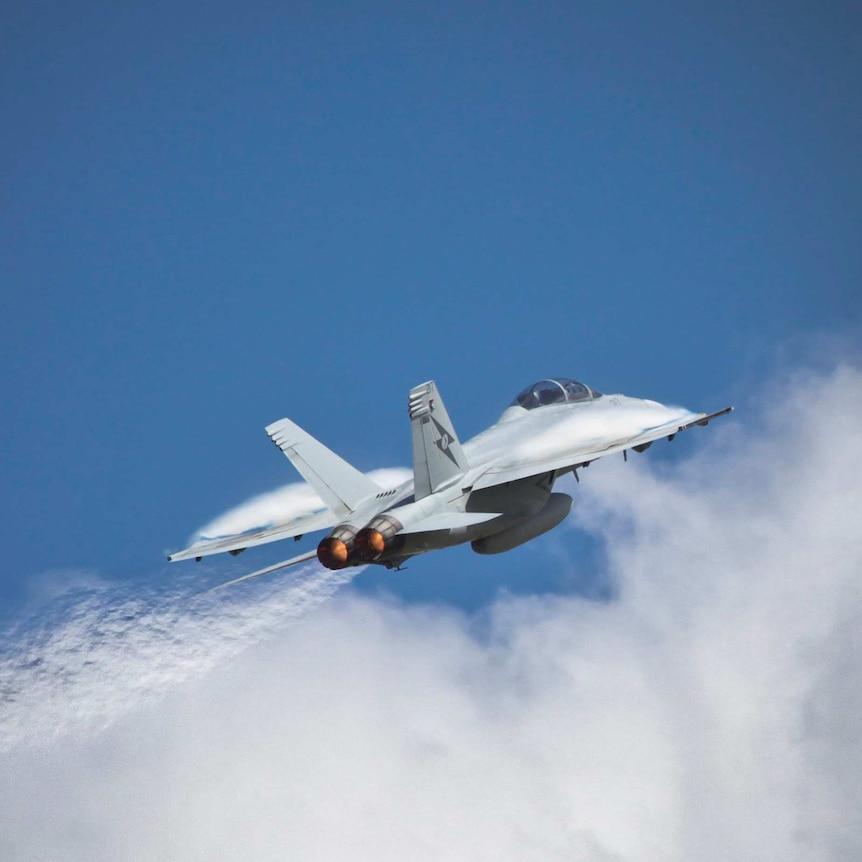 F/A-18 Super Hornet flying