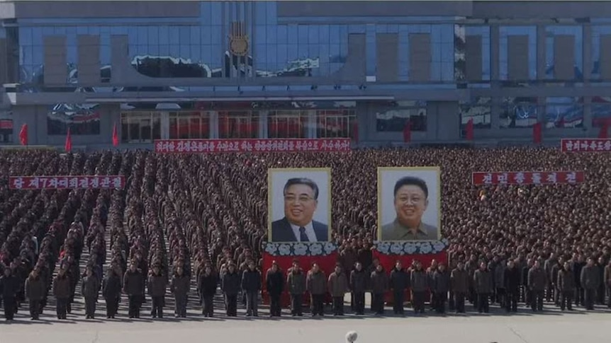 North Koreans rally in support of mobilisation