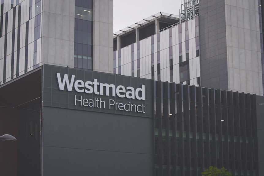 A building with the words Westmead Health Precinct displayed.