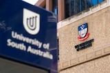 Logos of the University of South Australia and University of Adelaide.