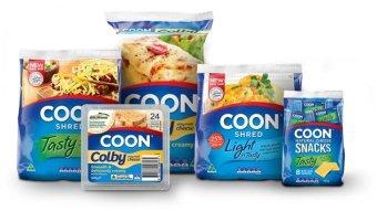 Various varieties of Coon cheese
