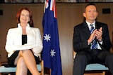 Photo finish: After an election race too close to call, Julia Gillard has pipped Tony Abbott to form government.