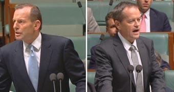 Composite of Tony Abbott and Bill Shorten