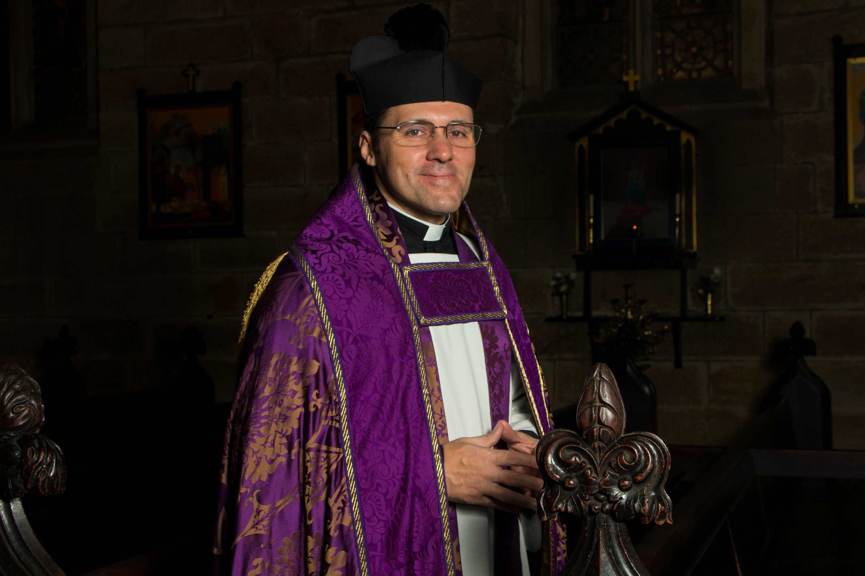 Mitre Hat Bishop Pope Priest Father Holy Fancy Dress Accessory