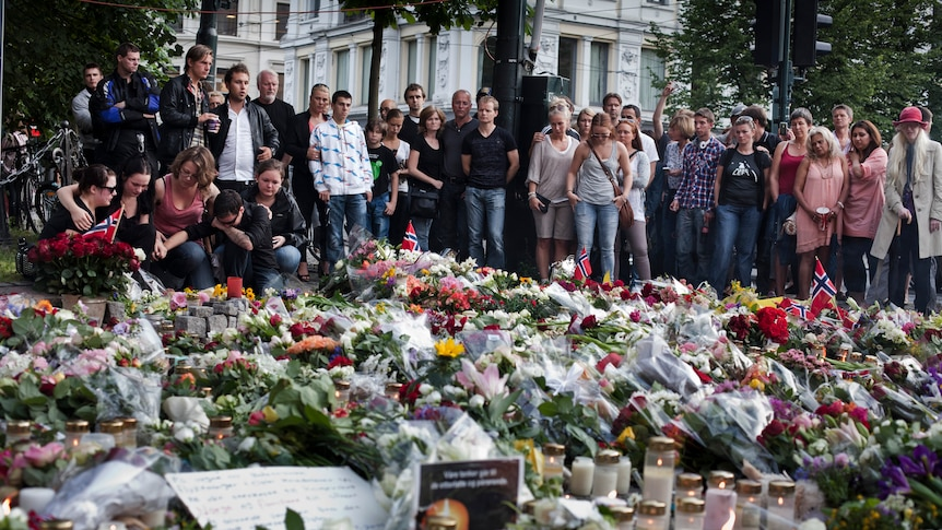 Norway massacre: People gather outside Oslo cathedral to remember victims