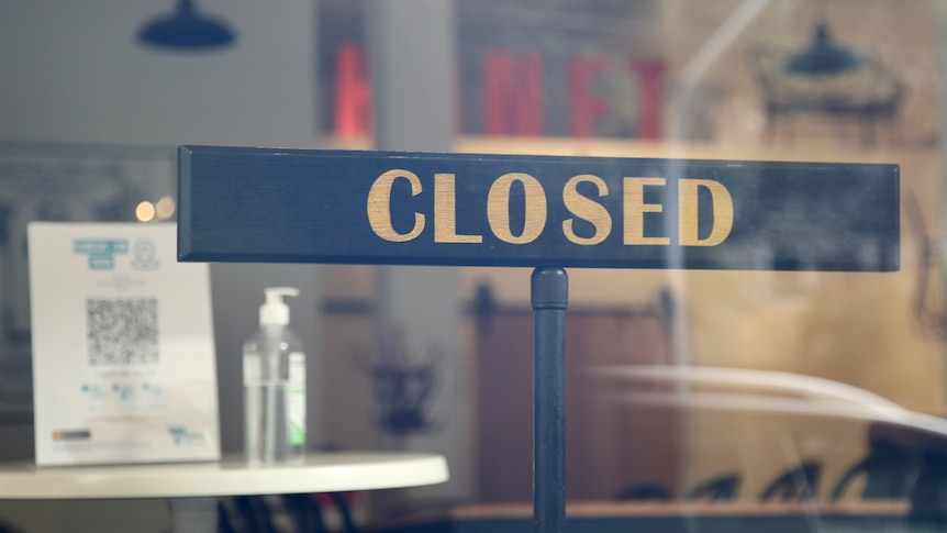 A closed sign.