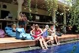 Members working at Dojo Bali co-working space in Canggu