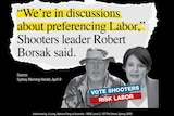 Website says 'we're in discussions about preferencing with Labor'