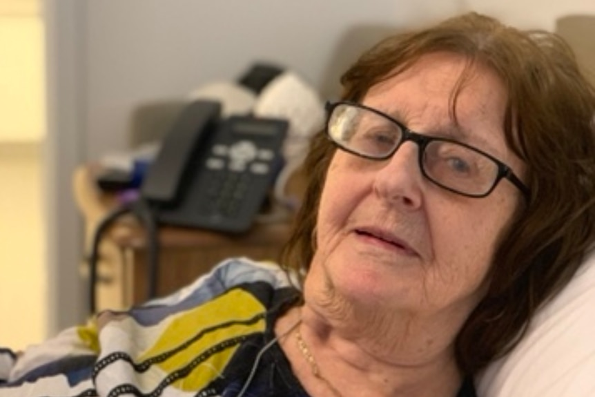 Maureen O'Brien, a resident from Epping Gardens aged care home, who contracted COVID-19.