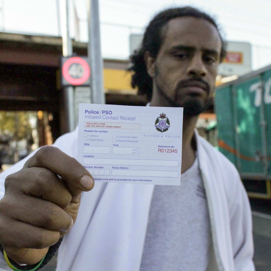 Maki Issa holds a PSO contact receipt.