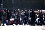 Pedestrians in Melbourne