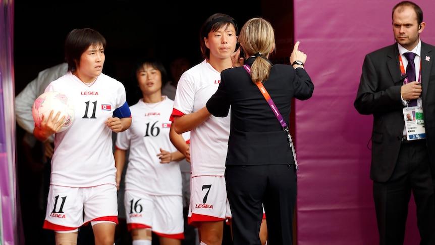 North Koreans upset before kick-off