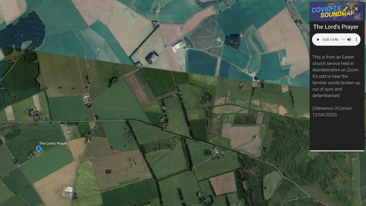 Satellite imagery of rural Aberdeenshire