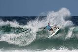 Newcastle surfer Ryan Callinan does a radical turn.