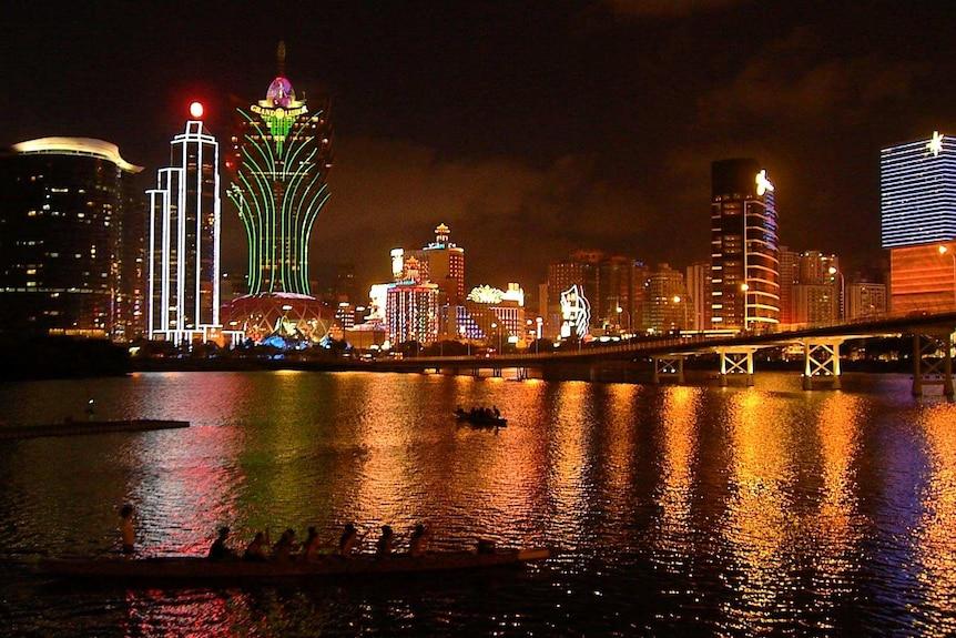 Great generic of Macau skyline at night
