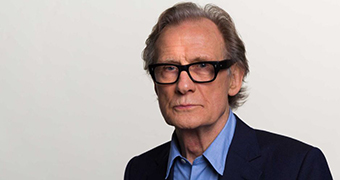 Bill Nighy poses for a photo in the ABC studios in Sydney.